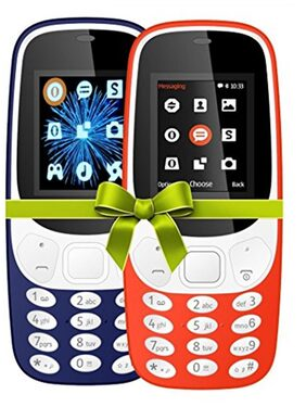 I KALL K3310 Combo (Dark Blue & Red) Mobile