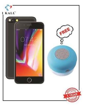 I Kall Black 4G K1 with Waterproof Bluetooth Speaker 8GB