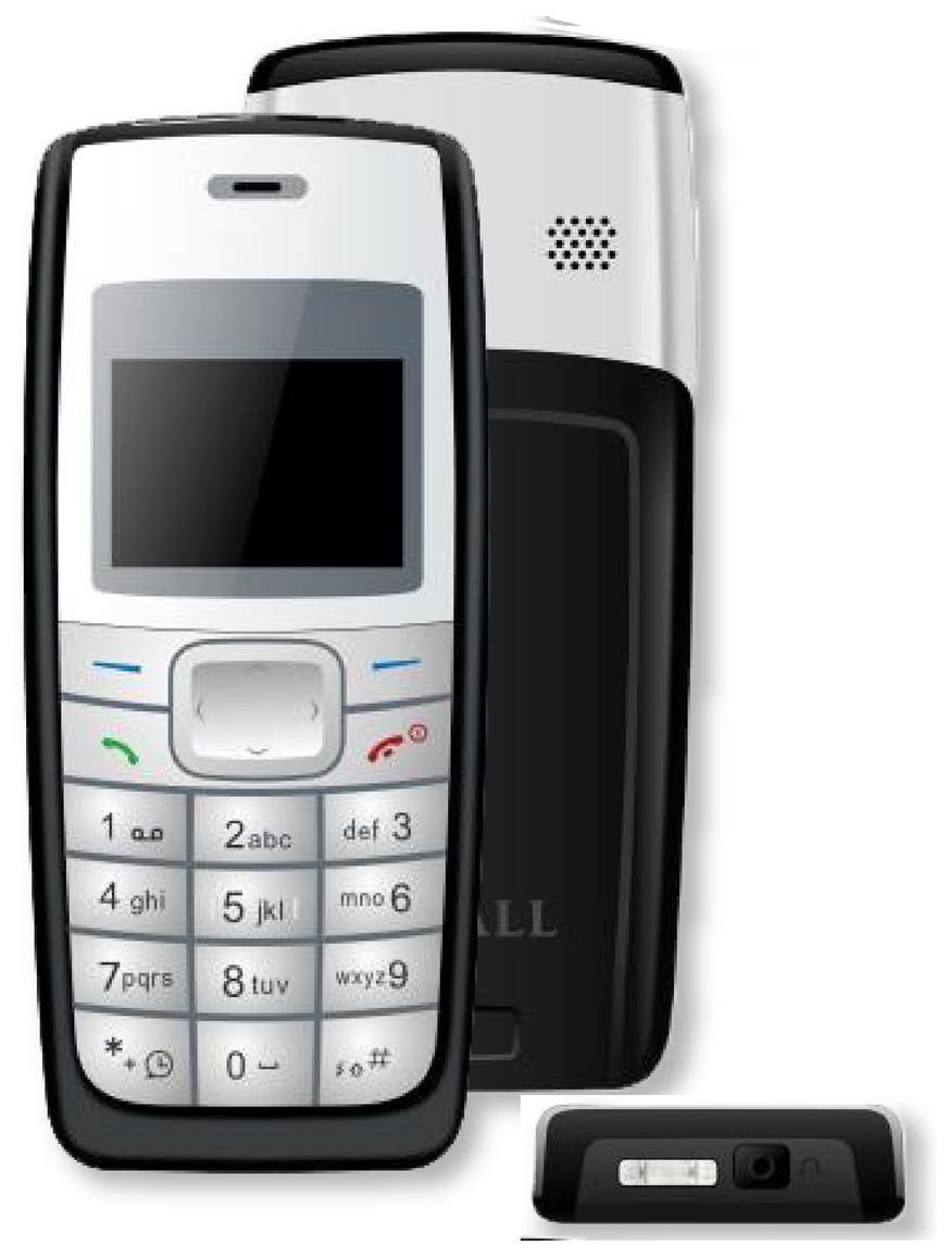 I Kall Black 3.65 cm (1.44 Inch) K72 Feature Phone
