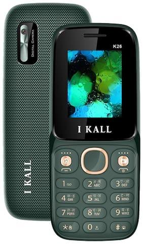 I KALL K26 Keypad Multimedia Mobile (Green, 1.8 Inch, Dual Sim, Vibration)