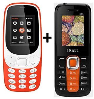 I KALL K3310 (Red)Combo with K99 (Orange) Mobile