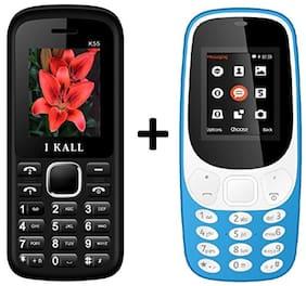 I KALL K3310 (Light Blue)Combo with K55 (White) Mobile