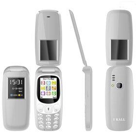 I Kall K3312 Flip Phone  Gray