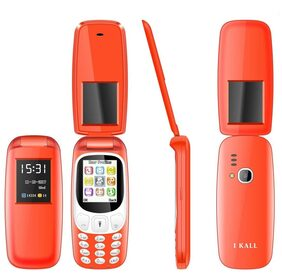 I Kall K3312 Flip Phone  Red