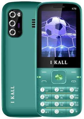 I KALL K78 Multimedia Keypad Mobile (Green, 2.4 Inch, Dual Sim, Vibrator)