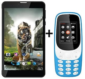 I KALL N5(Black) (2+16GB)4G Calling Volte Tablet Combo with K3310(Sky Blue) Mobile