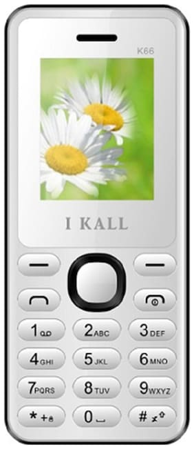 I Kall K66 White 4.57 cm (1.8 inch) Dual Sim Feature Phone