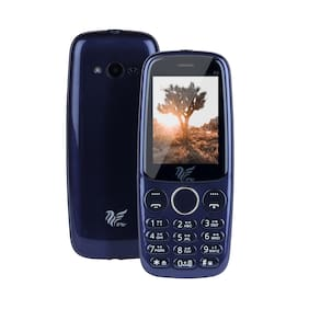 IAIR Basic Feature Dual Sim Mobile Phone with 2800mAh Battery, 2.4 inch Display Screen, 0.8 mp Camera with Big LED Torch (IAIRFPS5, Navy Blue)