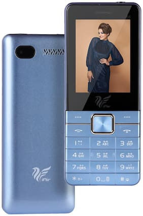 IAIR Basic Feature Dual Sim Mobile Phone with 2800mAh Battery, 2.4 inch Display Screen, 0.8 mp Camera with Big LED Torch (IAIRFPS6, Sky Blue)
