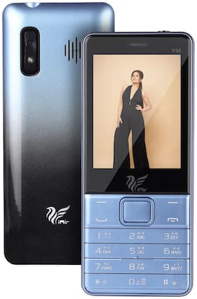 IAIR Basic Feature Dual Sim Mobile Phone with 2800mAh Battery, 2.8 inch Display Screen, 0.8 mp Camera with Big LED Torch (IAIRFPY50, Sky Blue)