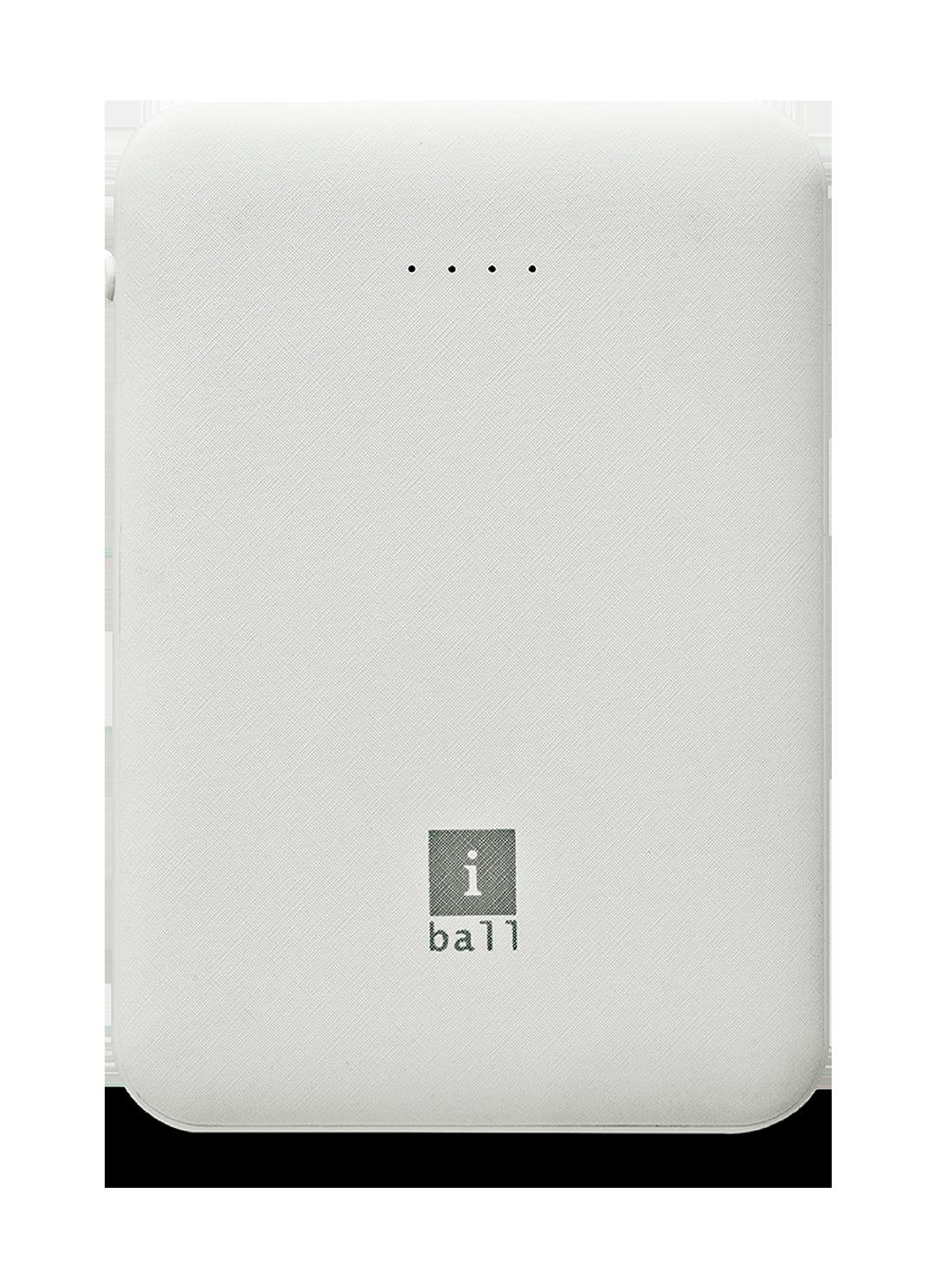 iBall 5000LPS_WHT 5000 mAh Slim Power Bank - White