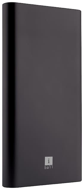 iBall 10000M_QCPD_BLK 10000 mAh Portable Fast Charging Power Bank - Black