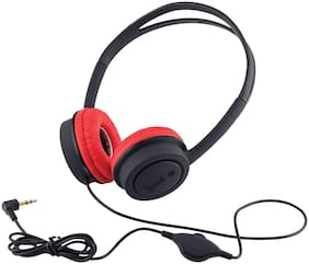 iBall Musi Over-Ear Wired Headphone ( Black & Red )