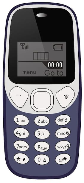 Ikall K71-Dark Blue Feature Phone with Vibrator