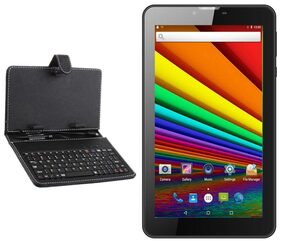 I KALL N8 Black-3G wifi calling Tablet(17.78 cm (7 Inch) 512MB+8GB) With Keyboard