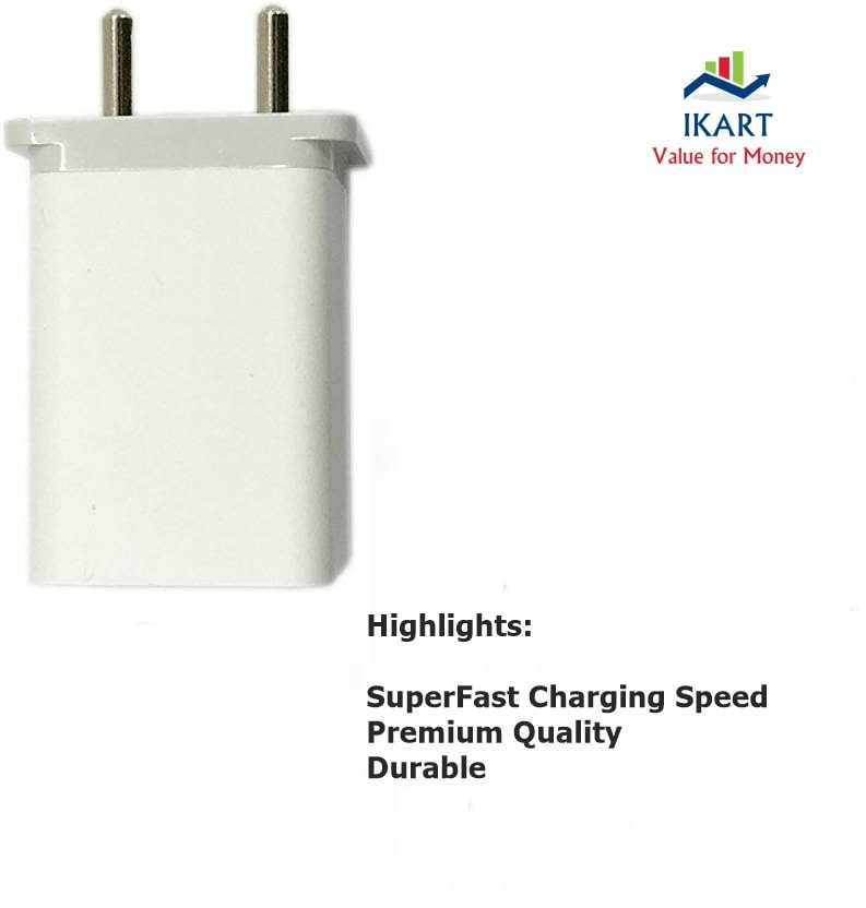 IKART Oppo F1s/ Oppo A57 Charger Adapter Like Mobile Charger |Power Adapter |Wall Charger |Fast Charger |Android Smartphone Charger|Battery Charger