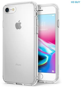 IKART Premium Shock Proof Hard Back Silicone  For Apple iPhone 7 & iPhone 8 - Transparent