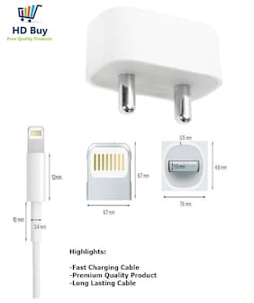 IKART Wall Charger For iPhone 5/iPhone 5s/iPhone 6/iPhone 6s/iPhone 7/iPhone 7 Plus/iPhone 6 Plus/iPhone 6s Plus/iPhone/iPad