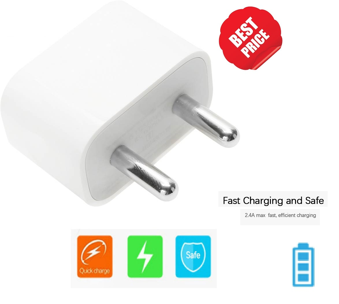 IKART Wall Charger For iPhone 5/5/5c/6/6s/6 Plus/6s Plus/7/7 Plus  White