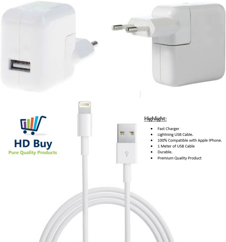 IKART Wall Charger For Apple iPhone 5/5s/5c/6/6s/6s Plus/7/8/8 Plus/iPhone X