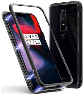 Smart Magnetic Adsorption Case Ultra Slim Metal Frame with Built-in Magnet Case for OnePlus 6