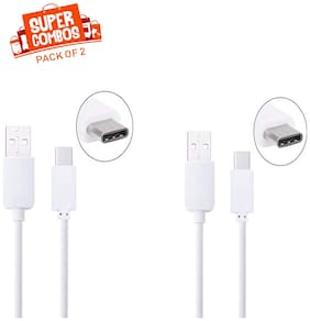 IMMUTABLE RME USB Type-C to USB-A 2.0 Male Cable (PACK OF 2) (White)