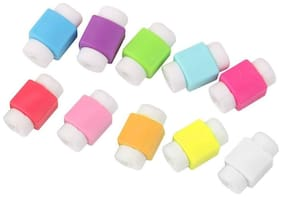 Imported 10pcs Protector Saver Cover for iPhone iPad USB Charger Cable  (Assorted color)