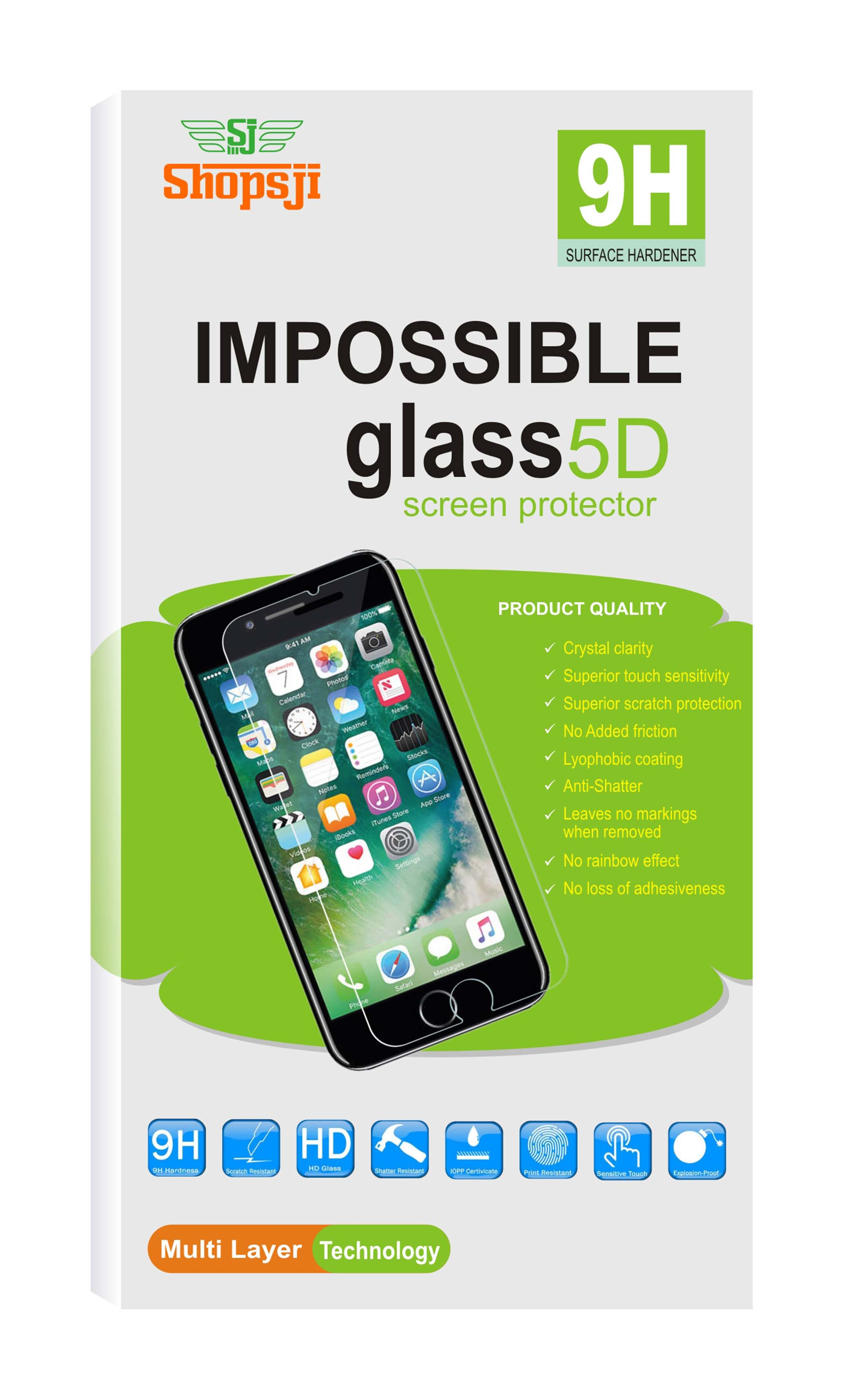 Impossible Glass, Screen Guard, 5D Impossible Glass for HTC One M8 by Kritika Estore
