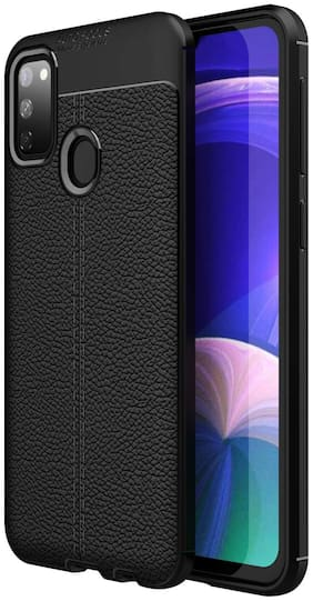 INCLU Back Cover For Samsung Galaxy M21 (Black)
