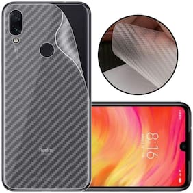 INCLU New Slim 3M Clear Transparent 3D Carbon Fiber Back Skin Rear Screen Guard Protector Sticker Protective Film Wrap Not Glass forXiaomi Redmi Y3