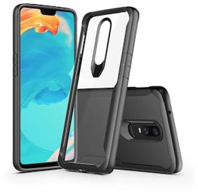 INCLU Silicone Back Cover For OnePlus 6 ( Black )