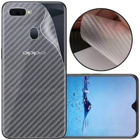 INCLU Premium New Slim Fit 3M Clear Transparent 3D Carbon Fiber Back Skin Rear Screen Guard Protector Sticker Protective Film Wrap Not Glass for oppo REALME 2 PRO