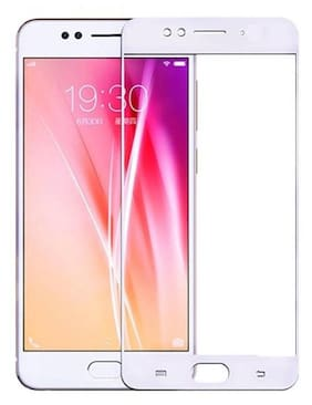 INCLU premium high quality 5d tempered glass edge to edge full covered, 9h hardness, full glue tempered glass for oppo f3 plus-white