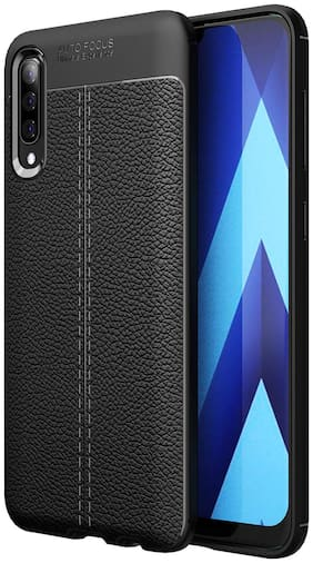 INCLU Rubber Back Cover For Samsung Galaxy A50 ( Black )