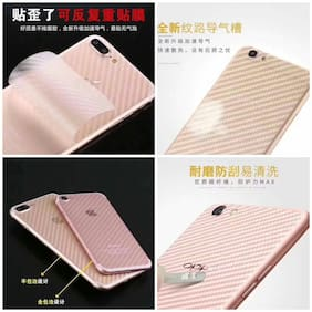 INCLU Premium carbon fiber stylish back skin for SAMSUNG A6 PLUS -(note/ the display image was showing only the sample of product).The original will come with 100% proper fitting and right holes