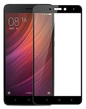 INCLU premium high quality 5d tempered glass edge to edge full covered, 9h hardness, full glue tempered glass for redmi note 4-black