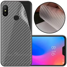 INCLU Premium New Slim Fit 3M Clear Transparent 3D Carbon Fiber Back Skin Rear Screen Guard Protector Sticker Protective Film Wrap Not Glass for  Xiaomi Redmi NOTE 6 PRO (Carbonn)