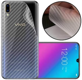 INCLU Premium New Slim Fit 3M Clear Transparent 3D Carbon Fiber Back Skin Rear Screen Guard Protector Sticker Protective Film Wrap Not Glass for VIVO V11 PRO