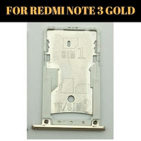INCLU PREMIUM SIM Card Tray Sim Slot Holder Replacement Part Compatible With Xiaomi Redmi Note 3 : Gold