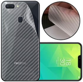 INCLU Premium New Slim Fit 3M Clear Transparent 3D Carbon Fiber Back Skin Rear Screen Guard Protector Sticker Protective Film Wrap Not Glass for oppo A5