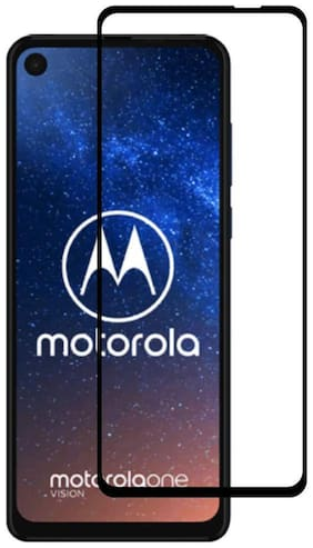 Inclu`S Motorola One Action Tempered Glass Full Glue Edge to Edge 9H Hardness Full Coverage Tempered Glass for Motorola One Action