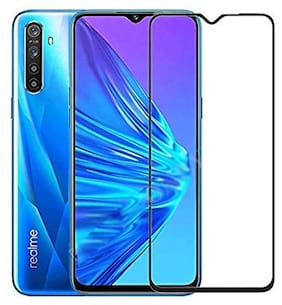 Inclu`S Realme XT Tempered Glass Full Screen Glue Edge to Edge 9H Hardness Glass Full Coverage 5D Tempered Glass for Realme XT