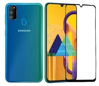 Inclu`S Samsung Galaxy M30s Tempered Glass Full Screen Glue Edge to Edge 9H Hardness Glass Full Coverage 5D Tempered Glass for Samsung Galaxy M30s