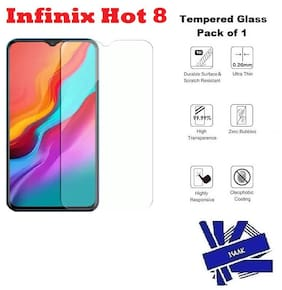 Infinix Hot 8 Tempered Glass (Pack of 1)