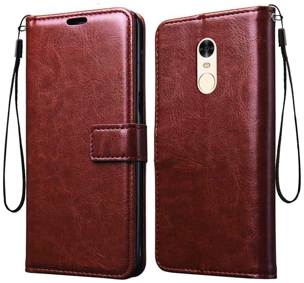 Mi Redmi Note 4 Leather Flip Cover By EXOTIC FLOURISH   Brown   by Exotic Flourish