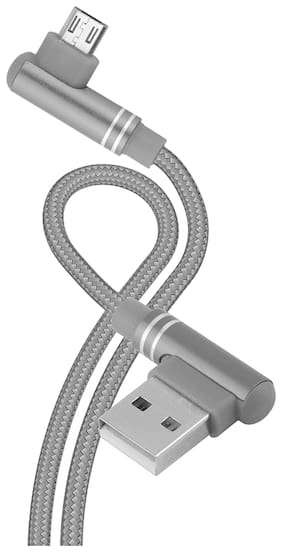 IN ONE INC002 Data & Charging Micro USB Cable ( 1.2 m , Grey )