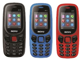 Inovu A1i (Dual Sim, 1.77 inch Display, 800 Mah Battery) - COMBO OF THREE DIFFERENT COLOR (BLACK,BLUE,RED)