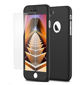 iPaky 360 Protective Body Case with Tempered Glass for Apple iPhone 5 5S - Black
