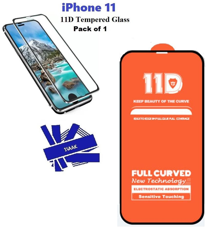 iPhone 11 Edge to Edge 11 D Tempered Glass (Pack of 1)