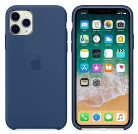 Vegish Silicone Back Cover For Apple iPhone 11 ( Blue )